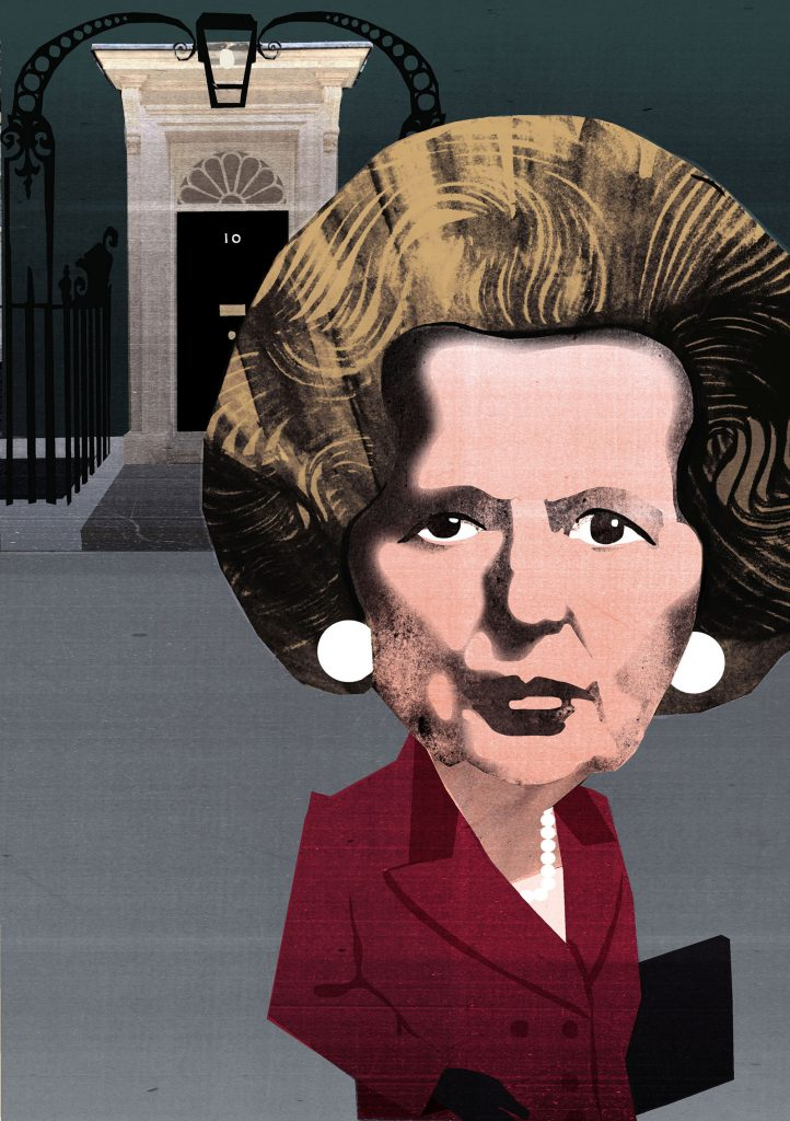 Margaret Thatcher Illustration