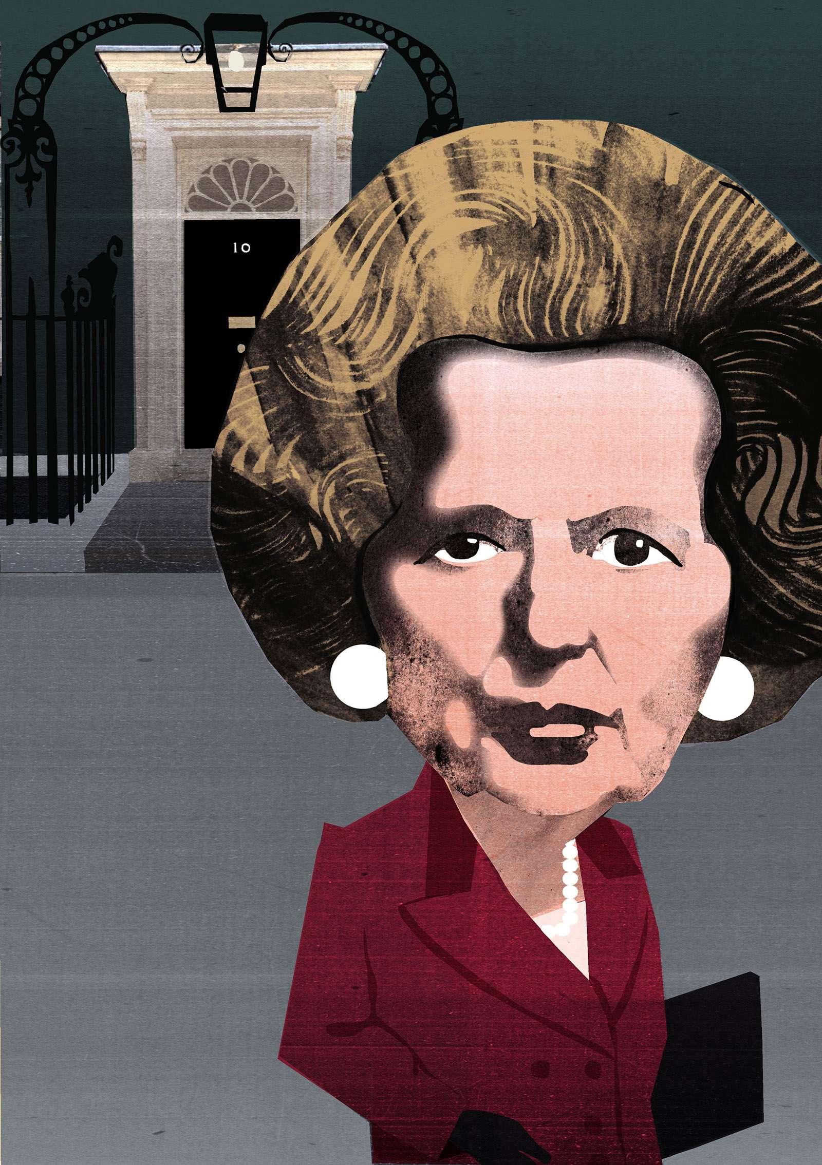 Margaret Thatcher Illustration